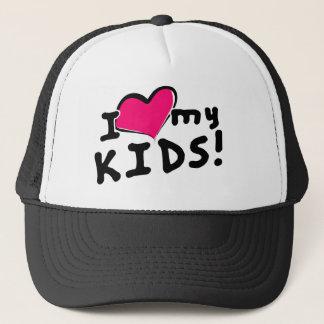 I love (heart) my kids! trucker hat