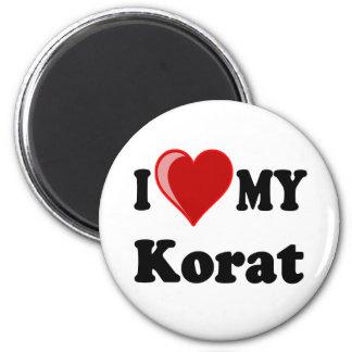 I Love (Heart) My Korat Cat 2 Inch Round Magnet