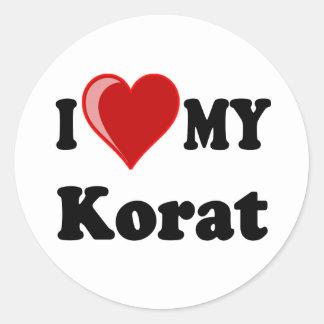 I Love (Heart) My Korat Cat Classic Round Sticker