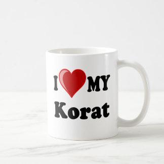 I Love (Heart) My Korat Cat Classic White Coffee Mug