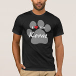 I Love (Heart) My Korat Cat Pawprint Design T-Shirt