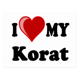 I Love (Heart) My Korat Cat Postcard