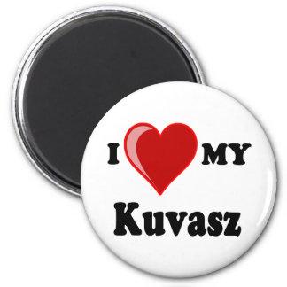 I Love (Heart) My Kuvasz Dog 2 Inch Round Magnet
