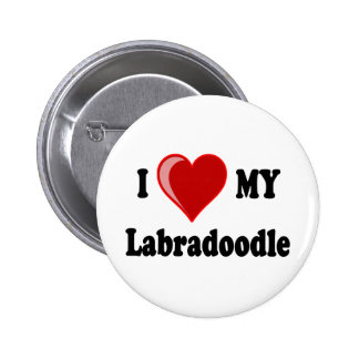 I Love (Heart) My Labradoodle Dog Button