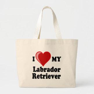I Love (Heart) My Labrador Retriever Dog Bags