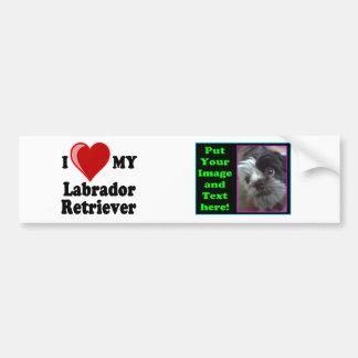 I Love (Heart) My Labrador Retriever Dog Bumper Sticker