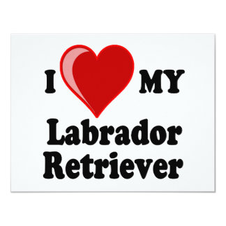 I Love (Heart) My Labrador Retriever Dog Card