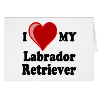 I Love (Heart) My Labrador Retriever Dog Cards