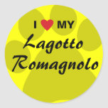 I Love (Heart) My Lagotto Romagnolo Classic Round Sticker