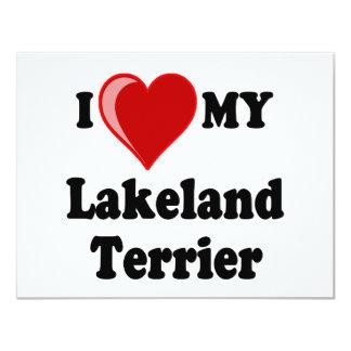I Love (Heart) My Lakeland Terrier Dog Card