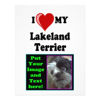 I Love (Heart) My Lakeland Terrier Dog Flyer