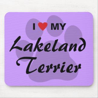 I Love Heart My Lakeland Terrier Mousepad