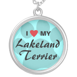 I Love (Heart) My Lakeland Terrier Silver Plated Necklace