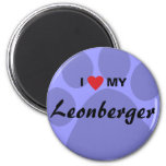 I Love (Heart) My Leonberger Pawprint Magnet