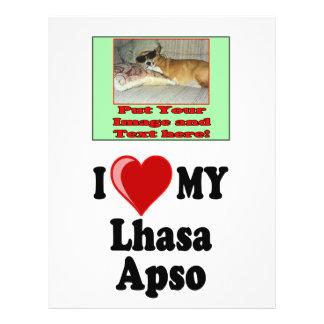 I Love (Heart) My Lhasa Apso Dog Flyer