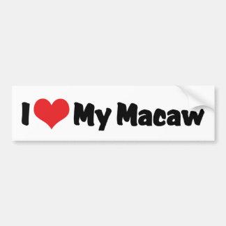 I Love Heart My Macaw - Bird Lover Bumper Sticker