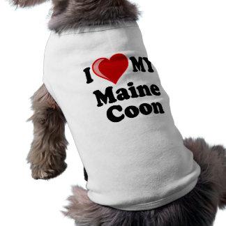 I Love (Heart) My Maine Coon Cat T-Shirt