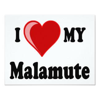 I Love (Heart) My Malamute Dog Card