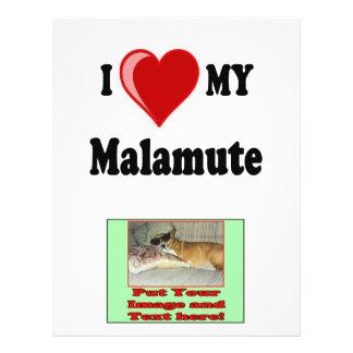 I Love (Heart) My Malamute Dog Flyer