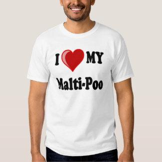 I Love (Heart) My Malti-Poo Dog T Shirt