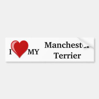 I Love (Heart) My Manchester Dog Bumper Sticker