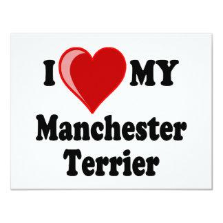 I Love (Heart) My Manchester Dog Card