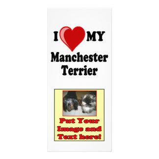 I Love (Heart) My Manchester Dog Rack Card