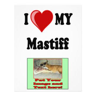 I Love (Heart) My Mastiff Dog Flyer