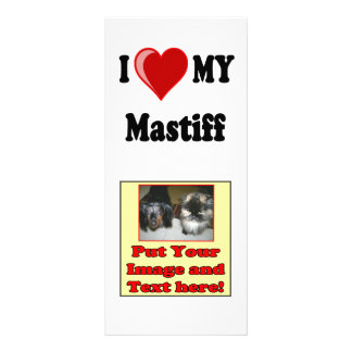 I Love (Heart) My Mastiff Dog Rack Card