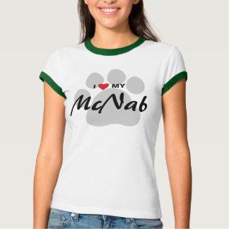 I Love (Heart) My McNab Dog Lovers Shirt