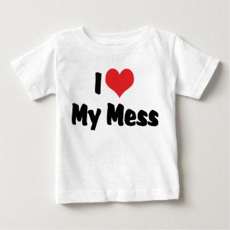 I Love Heart My Mess Baby T-Shirt