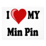 I Love (Heart) My Min Pin Dog Invitation