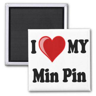 I Love (Heart) My Min Pin Dog Magnet