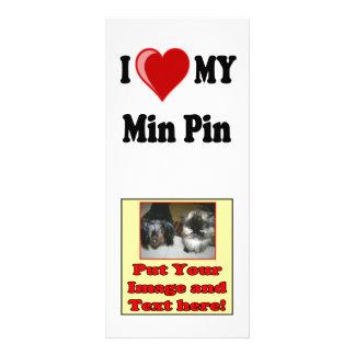 I Love (Heart) My Min Pin Dog Rack Card
