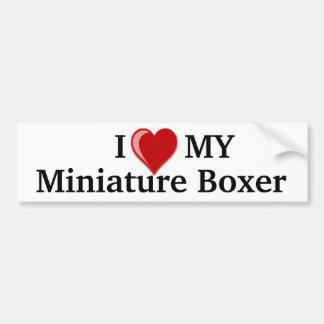 I Love (Heart) My Miniature Boxer Dog Bumper Sticker