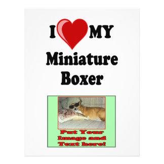 I Love (Heart) My Miniature Boxer Dog Flyer