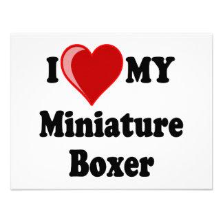 I Love Heart My Miniature Boxer Dog Invitation