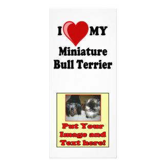 I Love (Heart) My Miniature Bull Terrier Dog Rack Card