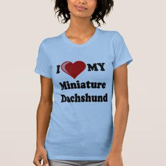 I Love (Heart) My Miniature Dachshund Dog T-shirt