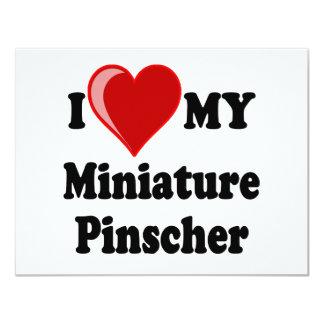I Love (Heart) My Miniature Pinscher Dog Card