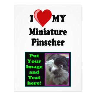 I Love (Heart) My Miniature Pinscher Dog Custom Flyer