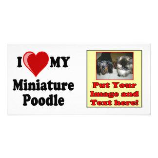 I Love (Heart) My Miniature Poodle Dog Card