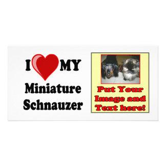 I Love (Heart) My Miniature Schnauzer Dog Card
