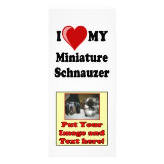 I Love (Heart) My Miniature Schnauzer Dog Rack Card