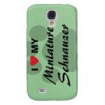 I Love (Heart) My Miniature Schnauzer Samsung S4 Case
