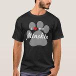I Love (Heart) My Minskin Cat Pawprint Design T-Shirt