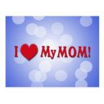 I LOVE (HEART) MY MOM POSTCARD