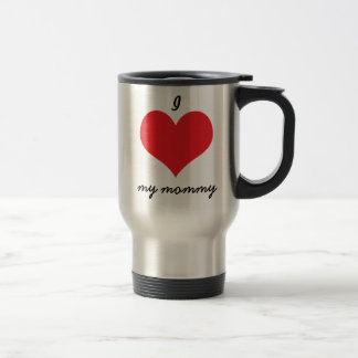 I love heart my mommy mother's day gift travel mug