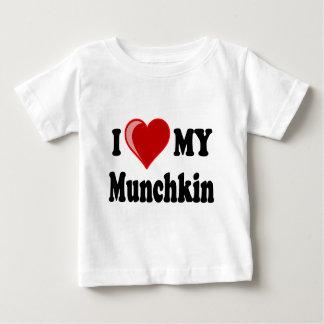 I Love (Heart) My Munchkin Cat Baby T-Shirt