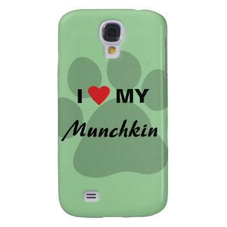I Love (Heart) My Munchkin Cat Paw Design Samsung Galaxy S4 Cover